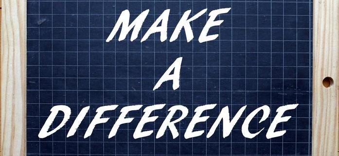 Te phrase Make A difference written on a blackboard